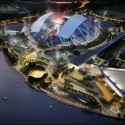 In Progress: Singapore Sports Hub / Arup (7) Aerial South West © Singapore Sports Hub, Oaker