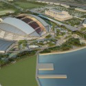 In Progress: Singapore Sports Hub / Arup (8) Aerial North West © Singapore Sports Hub, Oaker