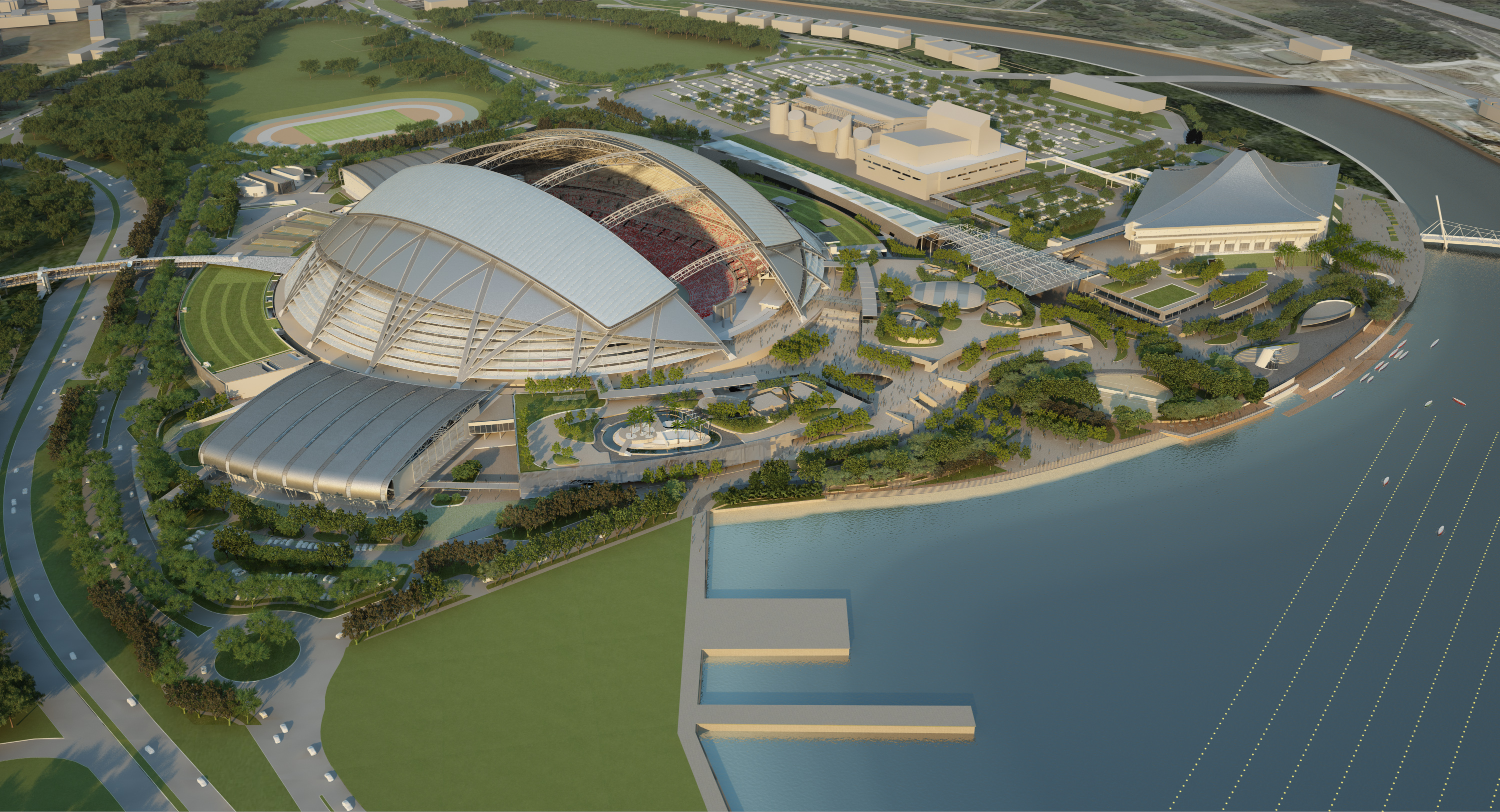 Architecture Photography: In Progress: Singapore SPORTS HUB / Arup.