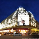 100 years under the Dome : 1912-2012 at Galeries Lafayette in Paris, France (10) Yann Kersalé-AIK- Chrysalide, Paris 2012 Parure de lumière pour les Galeries Lafayette