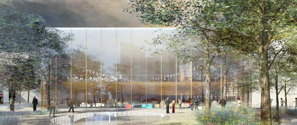 Daegu Gosan Public Library Competition Entry / Land+Civilization Compositions and Impressively Simple