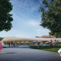 Design unveiled for St. Elizabeths East Gateway Pavilion in D.C. (3) Front Yard © Davis Brody Bond