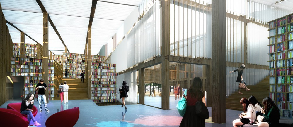 Daegu Gosan Public Library Competition Entry / MenoMenoPiu Architects