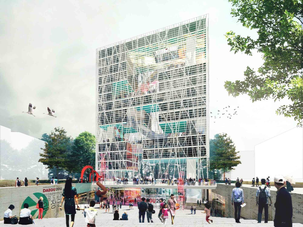 Daegu Gosan Public Library Competition Entry / STL Architects