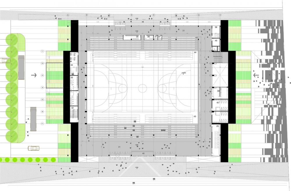 Architecture photography multi purpose sports hall for Multi purpose building plans