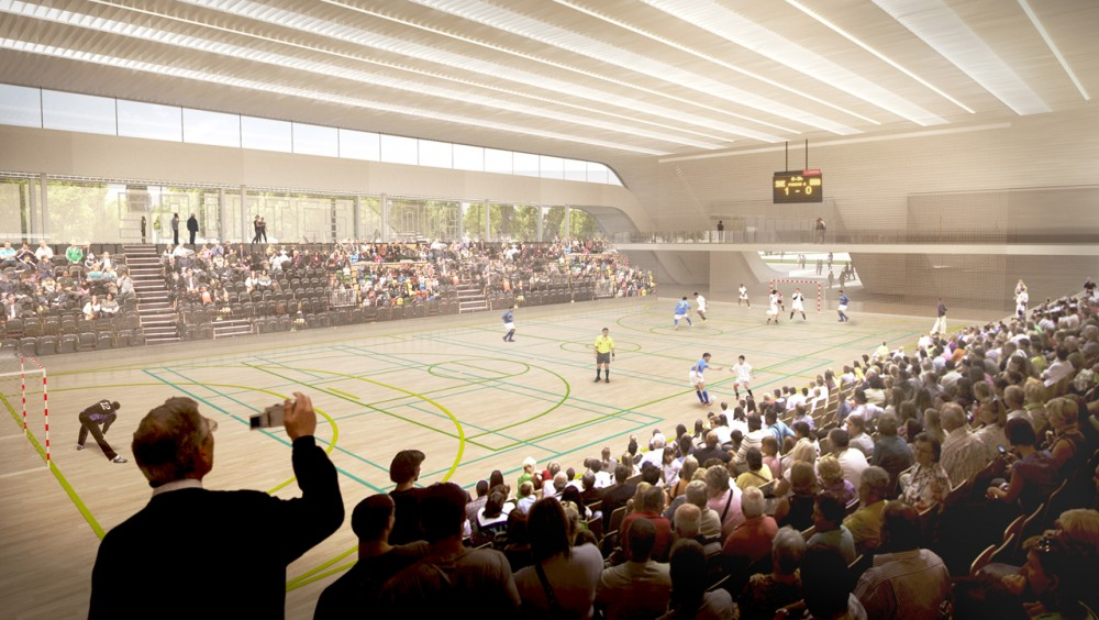 Multi-Purpose Sports Hall Competition Entry / MACA Estudio + Virai Arquitectos
