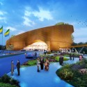 WORKac to design new Assembly Hall in Central Africa (2) Entrance © WORKac