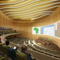 WORKac to design new Assembly Hall in Central Africa (5) Auditorium © WORKac
