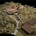 WORKac to design new Assembly Hall in Central Africa (7) Model © WORKac