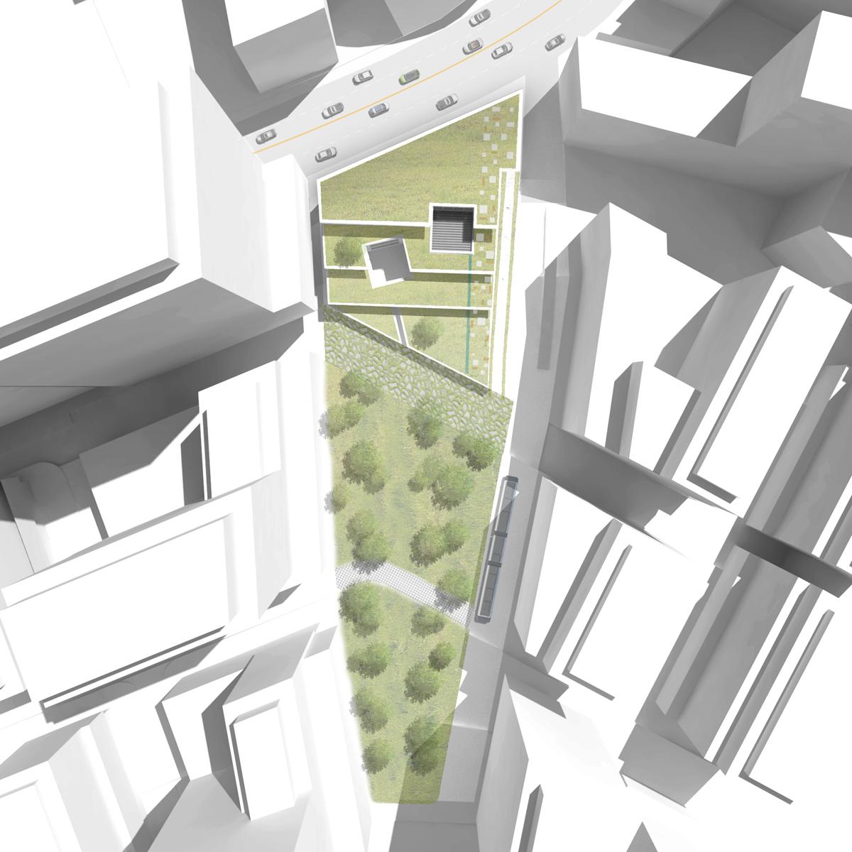 Architecture photography green square library plaza Online architecture design