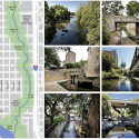 MVVA and Thomas Phifer to transform Austin's downtown with Waller Creek redesign  (5) Existing Waller Creek - Courtesy of Waller Creek Conservancy
