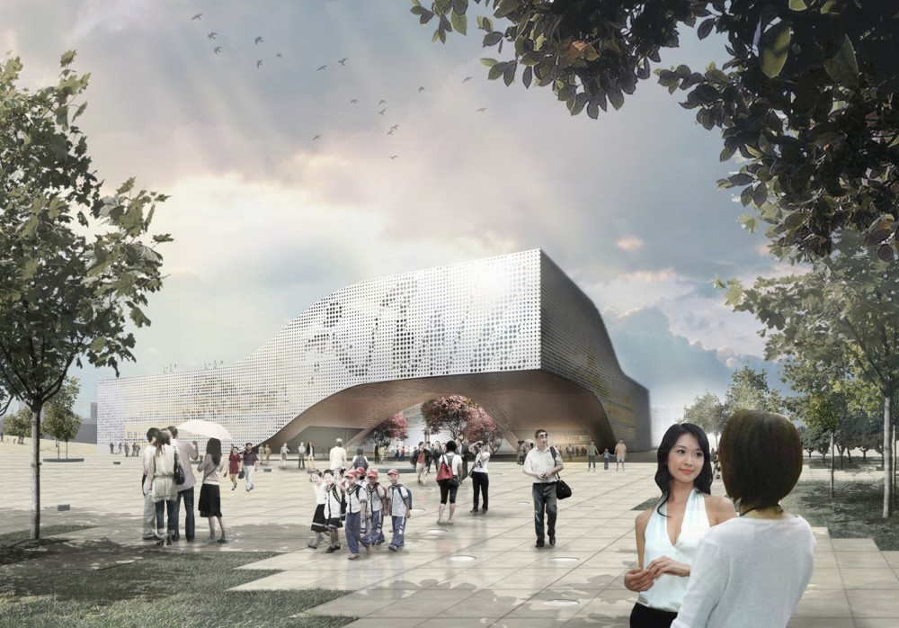 DQZ Cultural Center Proposal / Holm Architecture Office (HAO) + AI