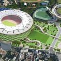 Finalists announced for Japan's New National Stadium  (12) Mitsuru Man Senda and Environment Design Institute Entry No.37 - Courtesy of Japan Sport Council