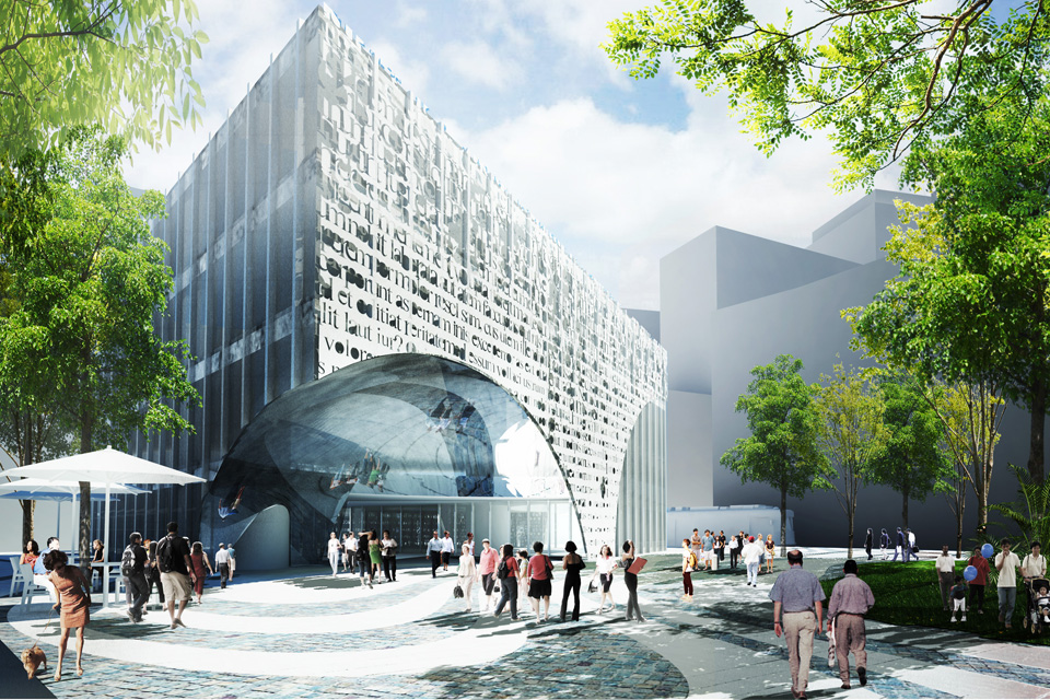 Green Square Library & Plaza Competition Entry / Bild + INDEX