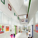 SOM breaks ground on New York's First Net Zero Energy School (4) Lower Corridor © SOM