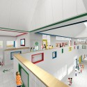 SOM breaks ground on New York's First Net Zero Energy School (3) Upper Corridor © SOM