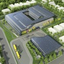 SOM breaks ground on New York&#039;s First Net Zero Energy School (1) Aerial  SOM