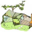 Garden studio in Amsterdam Watergraafsmeer / CC-Studio Sketch 01