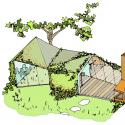 Garden estudio en Amsterdam Watergraafsmeer / CC-Sketch Studio 01