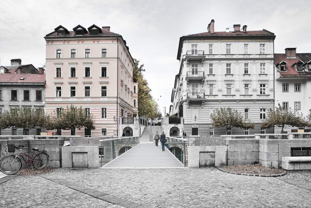 Footbridge in Ljubljana / Arhitektura d.o.o.