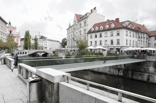 Footbridge in Ljubljana / Arhitektura d.o.o. Courtesy of Arhitektura d.o.o.