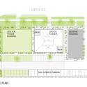 18th Street Studios / Fitzsimmons Architects Site Plan