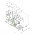 Machi-House / UID Architects Axonometric