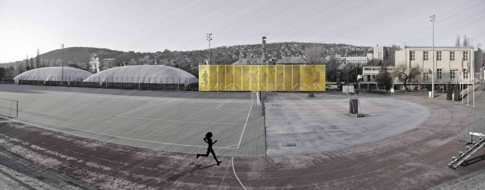 Vasas Sports Hall Facade Competition Entry / A4 Studio