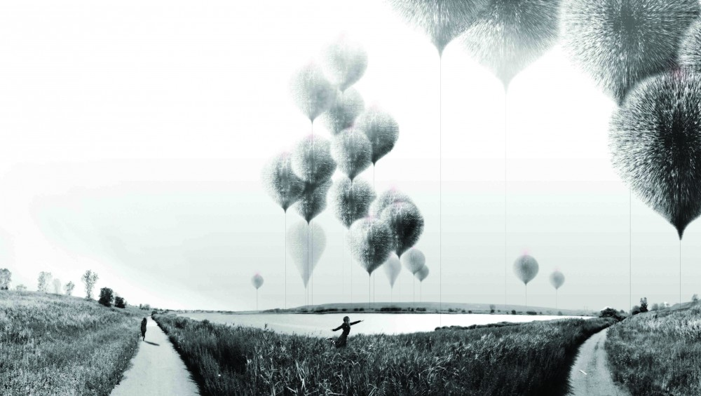 &#8216;NAWT Balloons&#8217; Land Art Generator Initiative Competition Entry / Norman Kelley