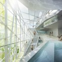 New Paracelsus Spa and Pools in Salzburg Winning Proposal (2) © HMGB Architects