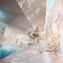New Paracelsus Spa and Pools in Salzburg Winning Proposal (3) © HMGB Architects