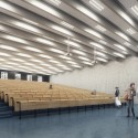 Building O - University of Antwerp Auditorium and Research Building Winning Proposal (5) © WAX architectural visualizations