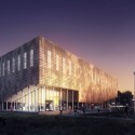 Building O - University of Antwerp Auditorium and Research Building Winning Proposal (1) © WAX architectural visualizations