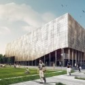 Building O - University of Antwerp Auditorium and Research Building Winning Proposal (2) © WAX architectural visualizations