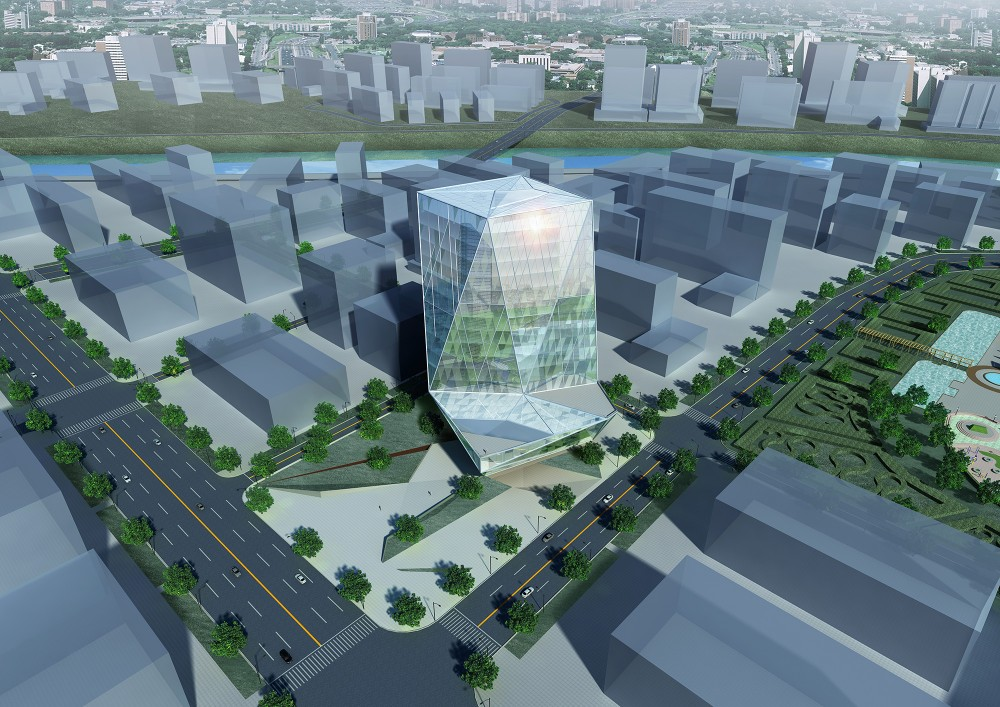 Zhengdong New District Office Building Proposal / AUA