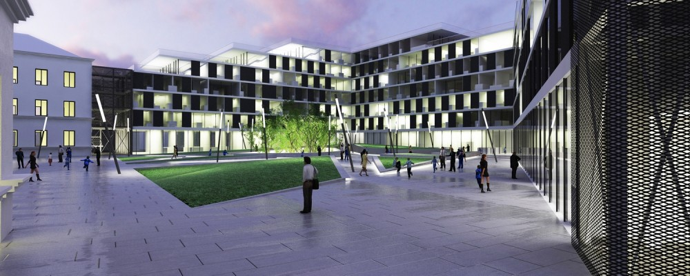 Varadin University Students Restaurant and Home Winning Proposal / SANGRAD Architects + AVP Arhitekti
