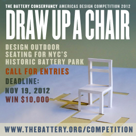 Extended Deadlines &#8211; Battery Conservancy Americas Design Competition 2012: Draw Up A Chair