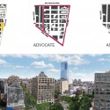 Masterplan for Hudson Square Streetscape Improvements (6) plans / Courtesy of Mathews Nielsen Landscape Architects