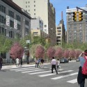 Masterplan for Hudson Square Streetscape Improvements (1) © 2012 Hudson Square Connection Rendering by Mathews Nielsen Landscape Architects