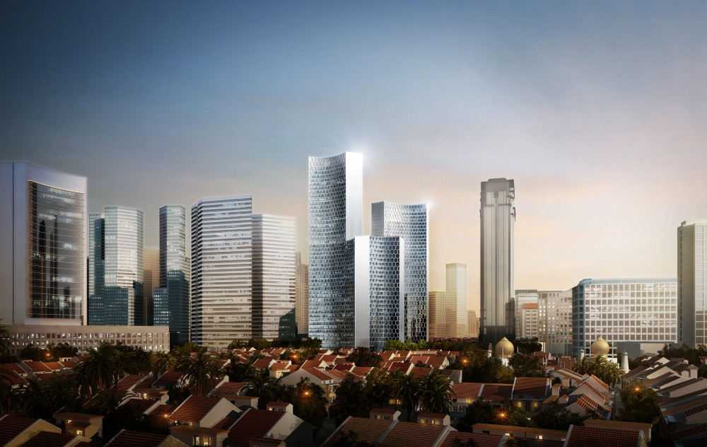 Büro Ole Scheeren unveils 'DUO' towers in Singapore