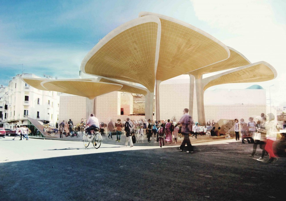 Sustainable Market Square Winning Proposal / TomDavid Architects