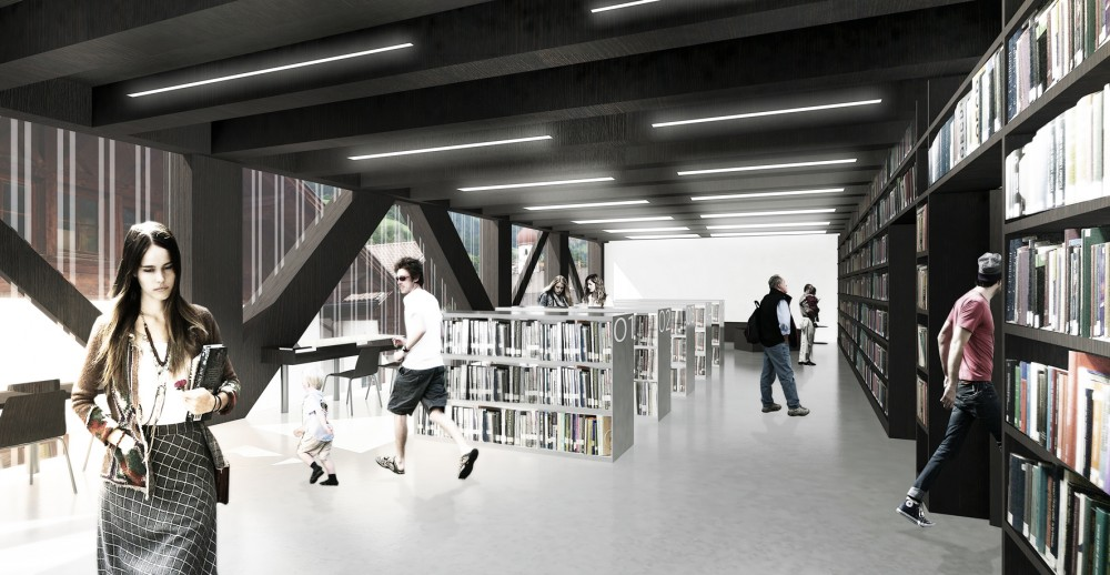 St. Martin Library Competition Entry / AZPA