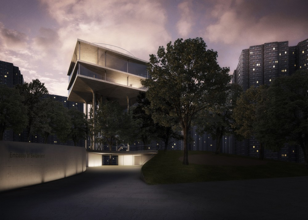 Swiss Embassy Competition Entry / Personeni Raffaele Schrer Architects