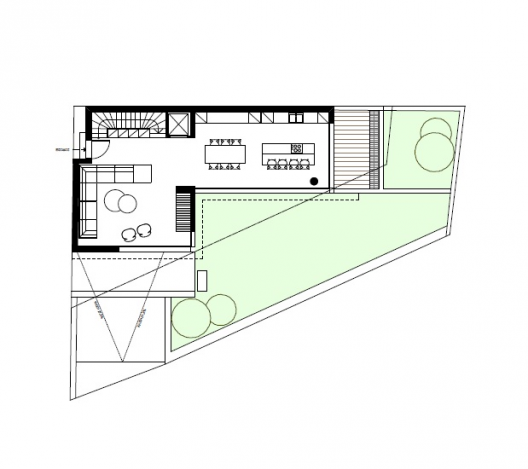 house design on triangular plot