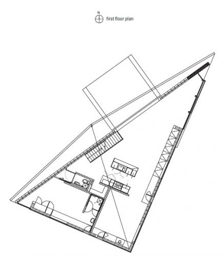 Connections triangular 6 for Triangular house floor plans