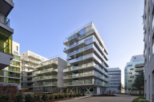 73 apartments ZAC Seguin Rives de Seine - Lot B3B / Philippe Dubus Architectes © Michel Denancé