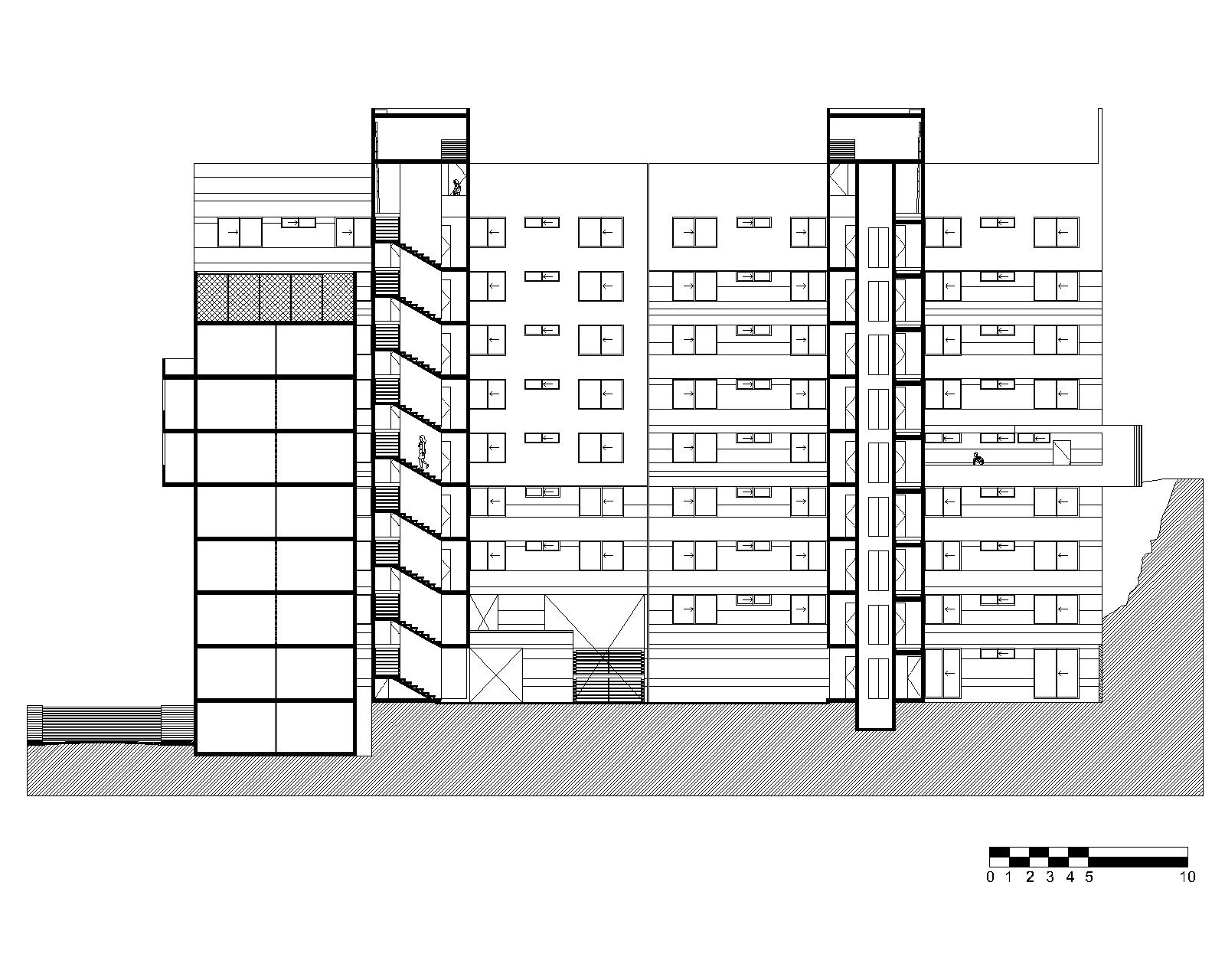 Apartment section drawing for Apartment building drawing