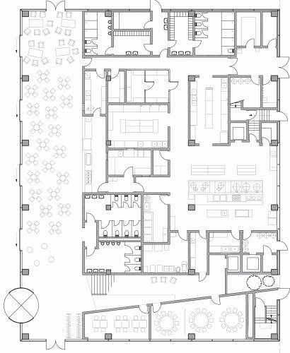 Canteen Design Plan Roche Canteen / Exh Design