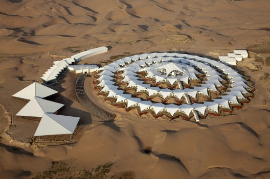 Xiangshawan Desert Lotus Hotel / PLaT Architects Courtesy of PLaT Architects