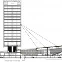 Headquarters Caja de Badajoz / Studio Lamela Architects Section